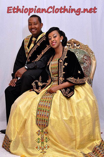 Habesha traditional wedding dresses.   Habesha Wedding