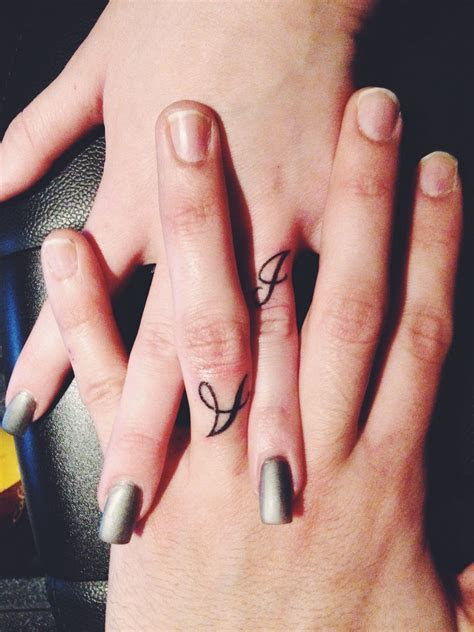 Marriage ring finger tattoos   tattoos   Pinterest