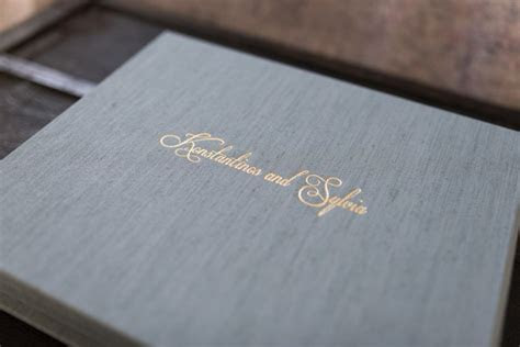 Fine Art Wedding Album with Image & Fabric Cover