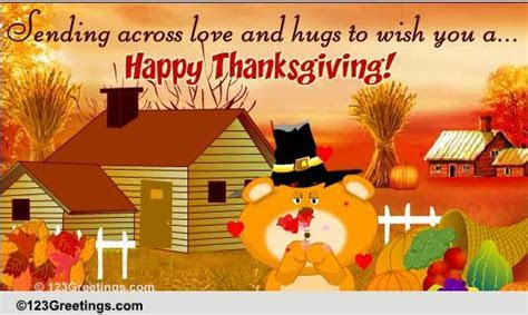 Thanksgiving Love & Hugs! Free Family eCards, Greeting