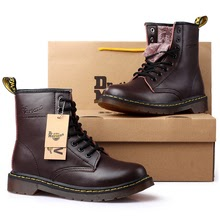 men boots brand 2019 fashion comfortable  leather