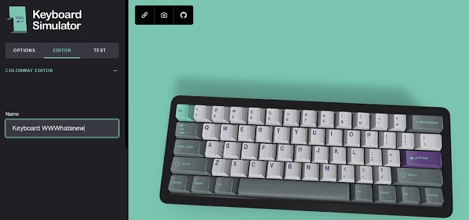 Keyboard simulator, a website where you can design different mechanical keyboard