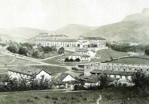Vista lateral do Palácio de São Cristóvão entre 1858 e 1861.