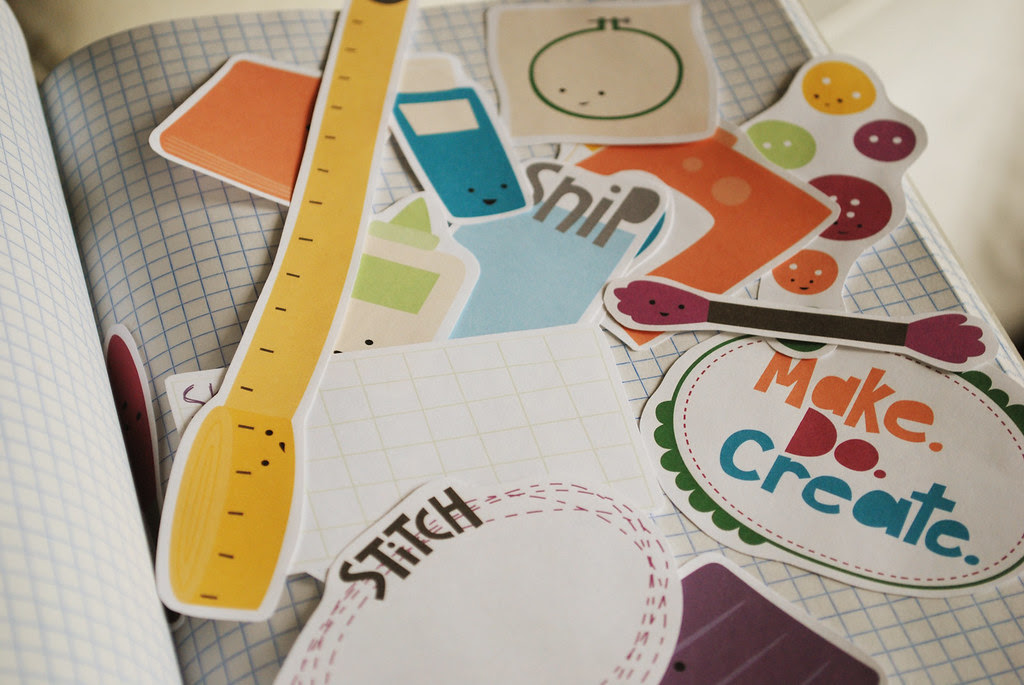 make. do. create. collage sheet