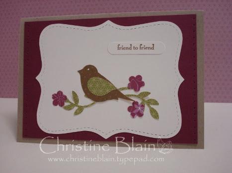Autumn-Winter Mini catalogue launch 2-step bird