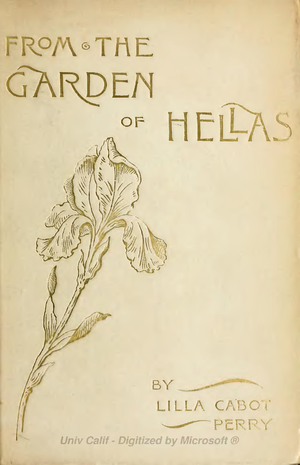 "English: Cover page from ""From the Garden..."