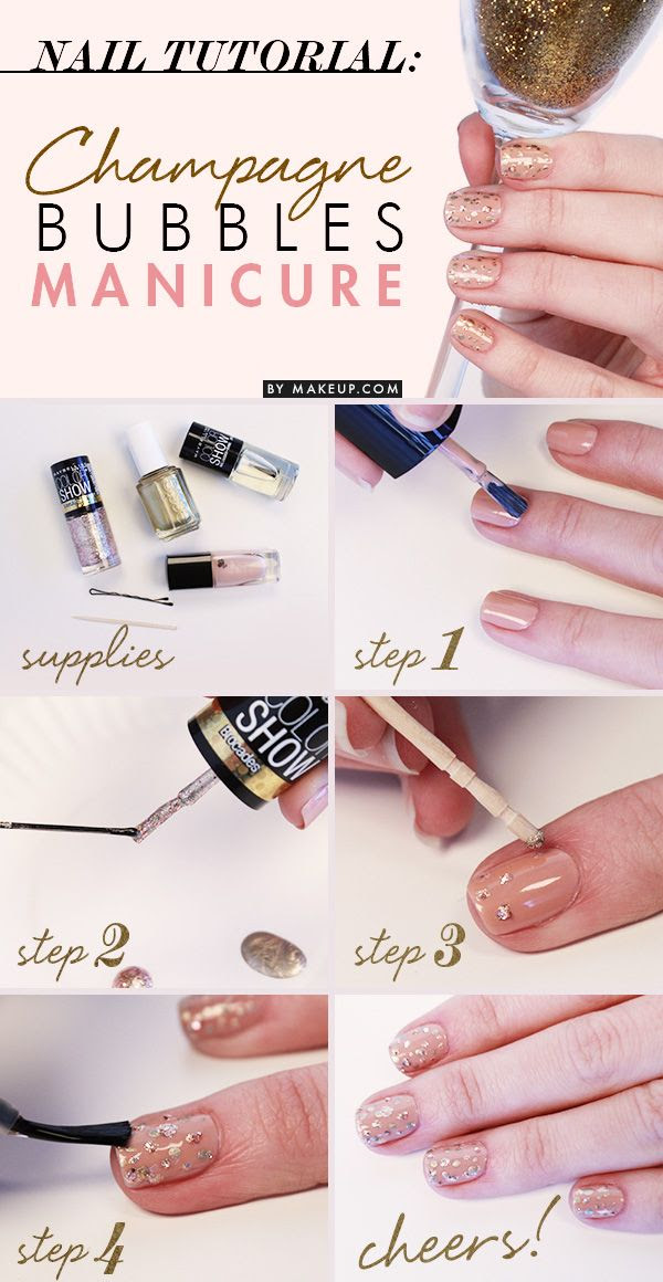 Manicure+Monday:+Champagne+Bubbles+Manicure