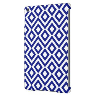 Blue and White Meander iPad Air Cases