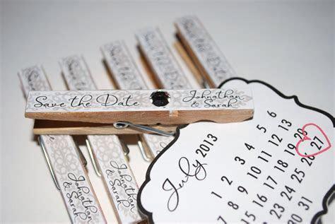 unique wedding save the dates calendar design Invitations