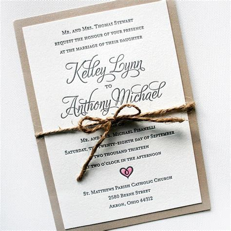 Original Letterpress Wedding Invitations & Stationery