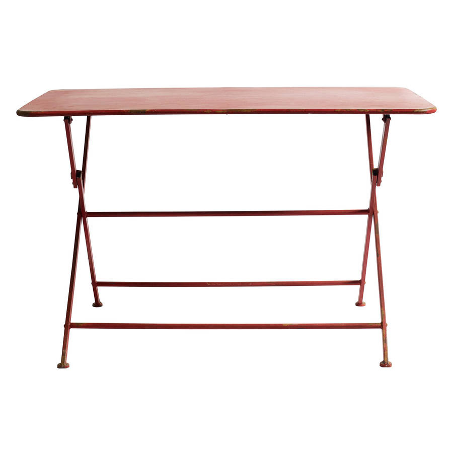 folding metal garden table by out there exteriors ...