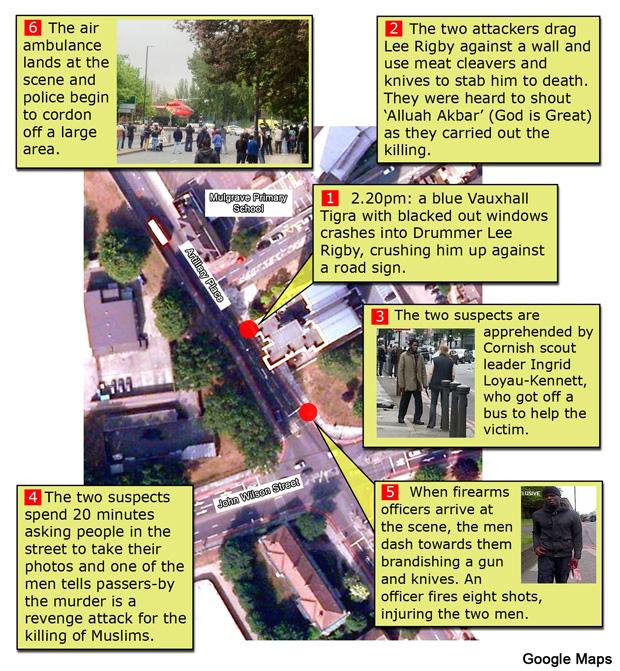 News Shopper: Woolwich attack map