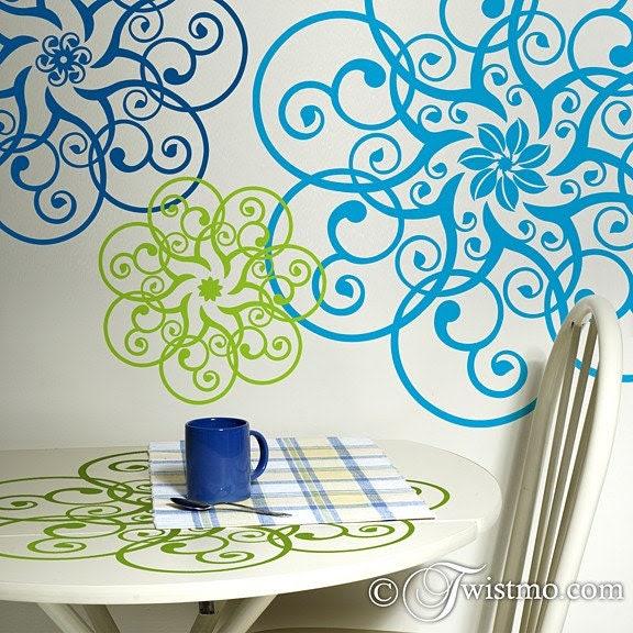 Vinyl Wall Art - 3 Different Circular Doily Designs