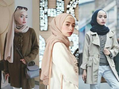Tutorial Hijab Pashmina Ootd Kekinian Gamis Kombinasi