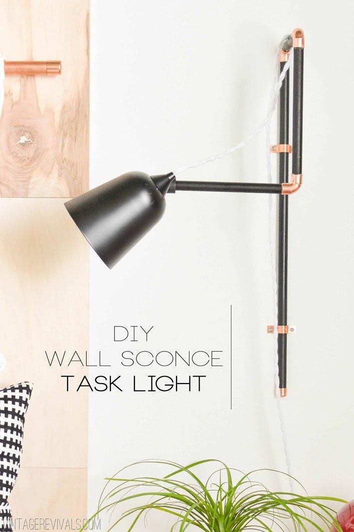 DIY Wall Sconce Task Lights & A Target Update! - Vintage ...
