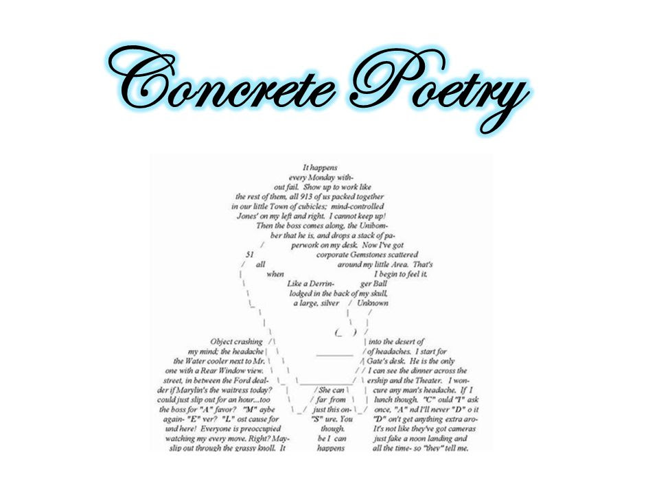 Concrete Poetry Ppt Video Online Download