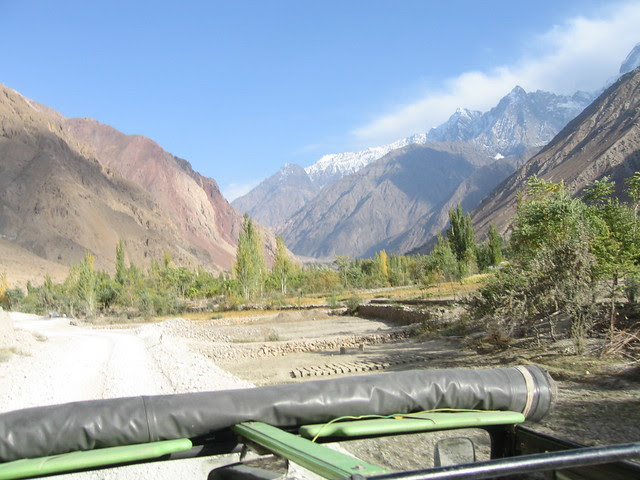 Travelling up the valley from Chitral to Mastuj, Buni Zom (6551m) on the right hand side