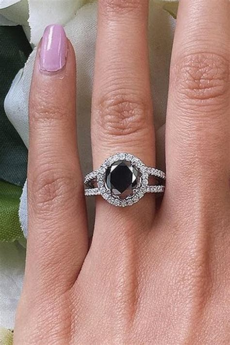 27 Unique Black Diamond Engagement Rings   Oh So Perfect