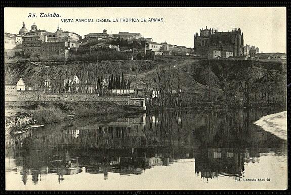Vista de Toledo desde la Vega Baja. Foto Lacoste, 1906