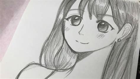 drawing manga girl  pencil  time lapse drawing