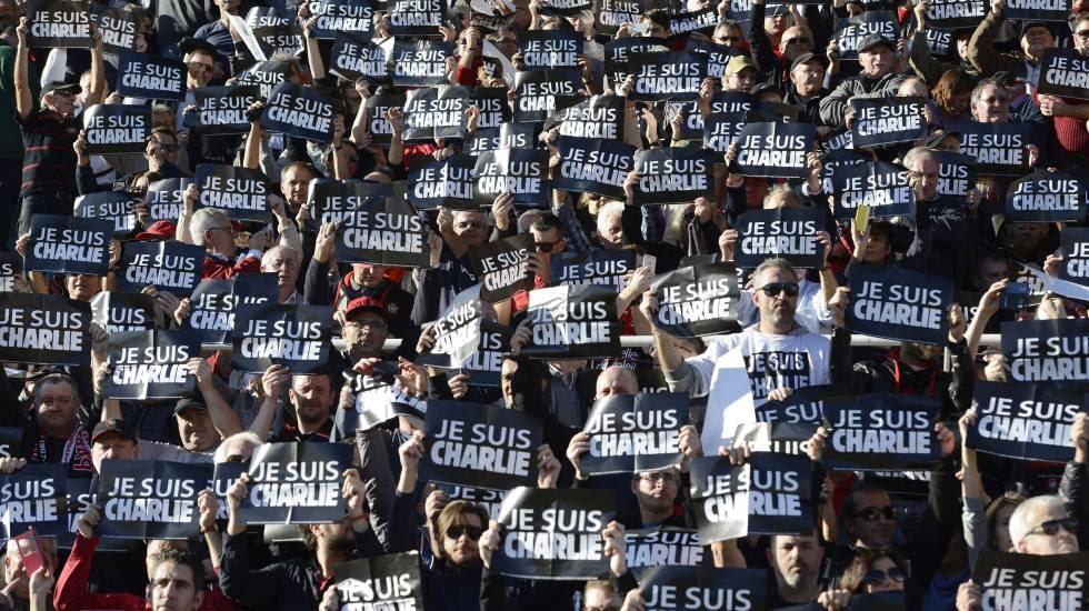 Movilización en Francia en defensa de la libertad de expresión tras el atentado a la revista 'Charlie Hebdo'.