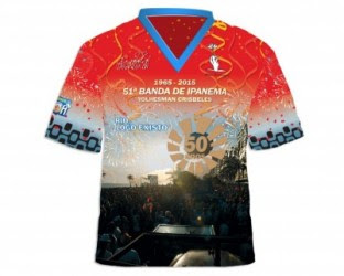Banda de Ipanema faz camisa especial para comemorar 50 anos