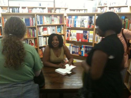 Tayari Jones signing her new book
