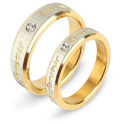 Forever Love Fashion Wedding Rings Stainless Steel Best