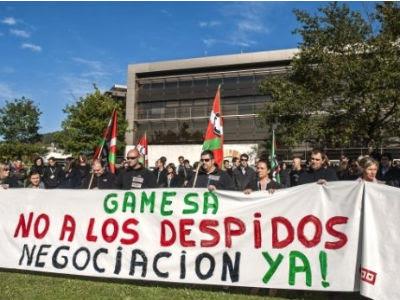 Concentración de los trabajadores de Gamesa en Zamudio el pasado noviembre.