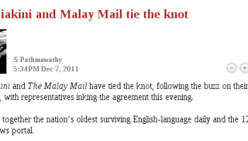 The Mail gets MalaysiaKini - and Rocky, too