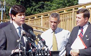 Blagojevich with former Congressman Rahm Emanu...