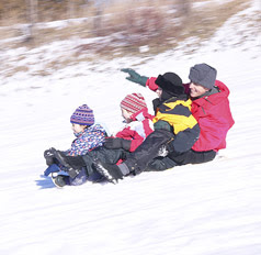 Be Safe While Sledding