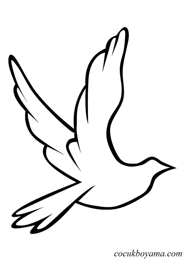 Güvercin 21 ücretsiz Boyama Resimleri