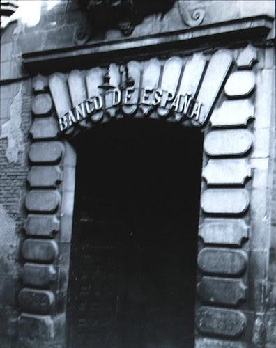 Portada del Banco de España en la Calle Cadenas de Toledo