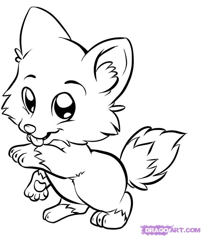 Anime Coloring Pages Dog - Coloring And Drawing
