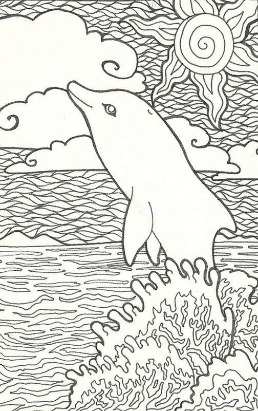 ausmalbilder delfin schwer