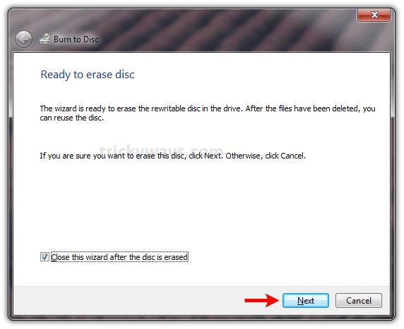 Erase CD or DVD Windows 7 | Erase Rewritable CD or DVD | MS Windows