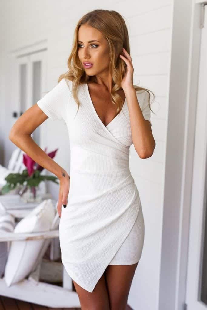 White bodycon dress outfit ideas chicago usa