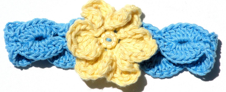 Elegant Eva Headband Crochet Pattern Sizes Newborn to 12 Months