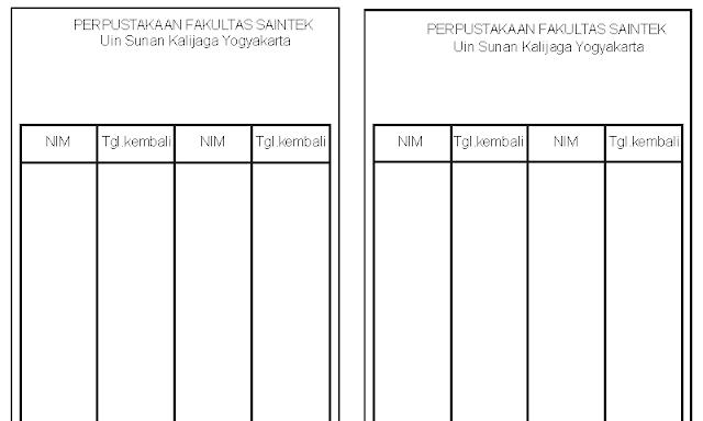 Contoh Format Kartu Punggung Buku untuk Kelengkapan Administrasi Perpustakaan