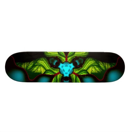 Demon Shadows – Emerald and Yellow Mask Skate Boards