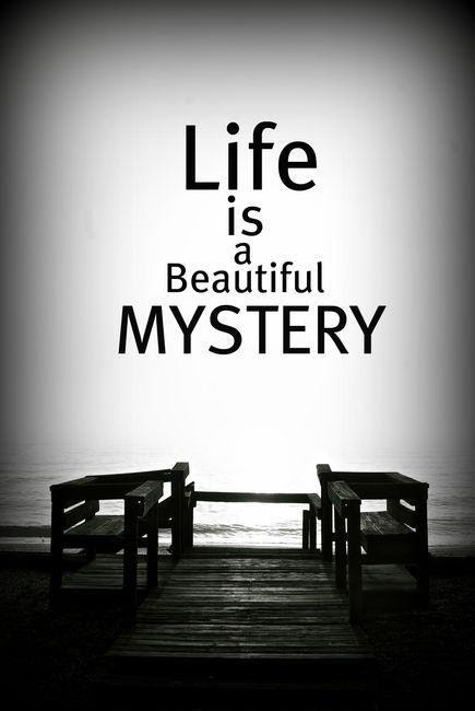 Life Is A Beautiful Mystery Picture Quotes