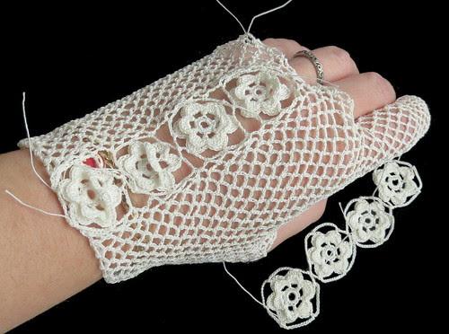 irish gloves under construction