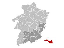 Vị trí của Voeren ở Limburg