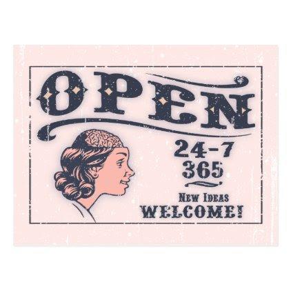 Open Mind -f Postcard