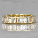 Vertical Baguette Wedding Band   Channel Set Diamonds