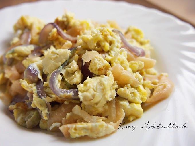 #Cabaran20Hari Resepi Hidangan Sahur Paling Ringkas Lobak Masin Goreng Telur