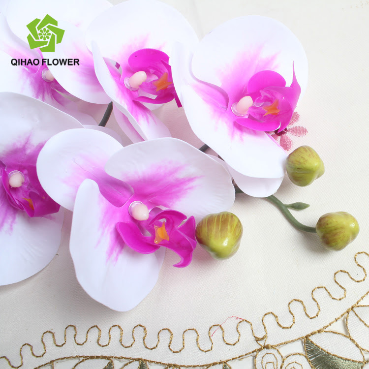 Wedding Decorative Artificial Flowers Single Silk Orchid