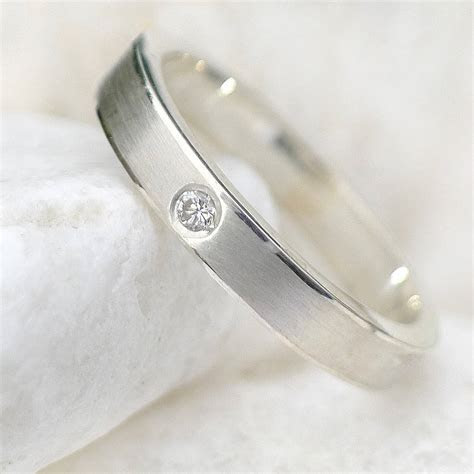 diamond wedding ring in sterling silver by lilia nash