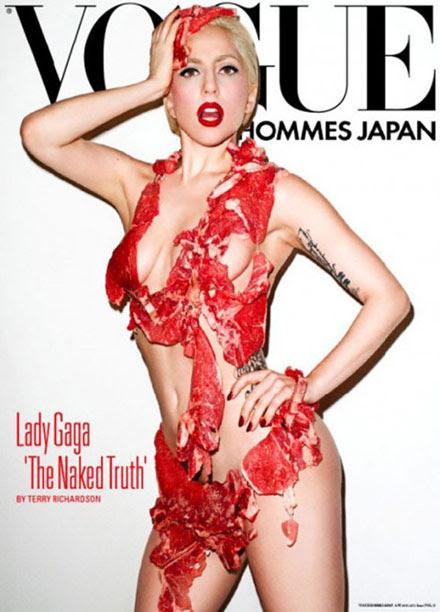 Lady GaGa in the meat bikini